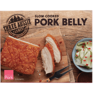 Three Aussie Farmers Slow Cooked Pork Belly