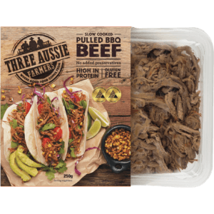 Three Aussie Farmers Slow Cooked Pulled Beef