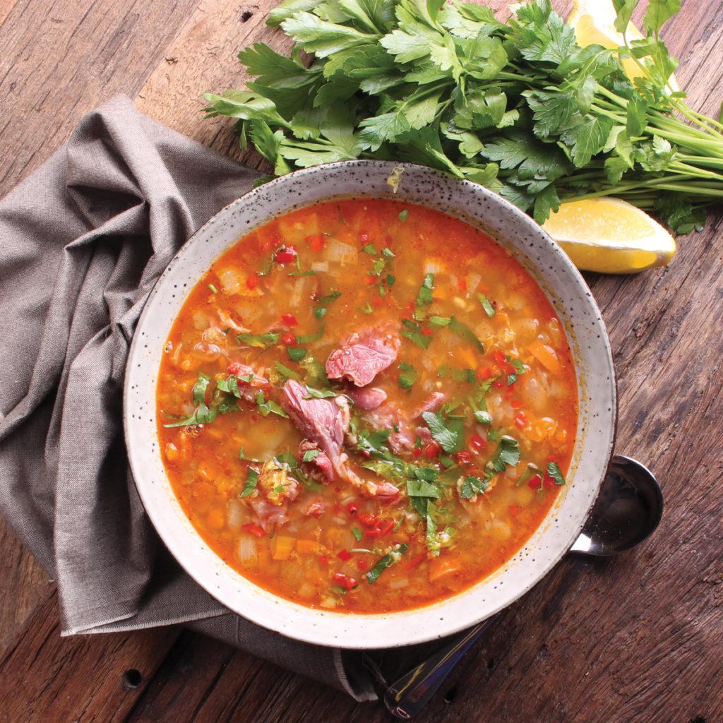 Smoky White Bean & Bacon Hock Soup - Three Aussie Farmers Smoked Bacon Hock