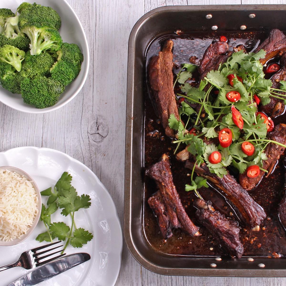 Oven Baked Chinese Five Spice Pork Ribs - SunPork Pork Loin Ribs