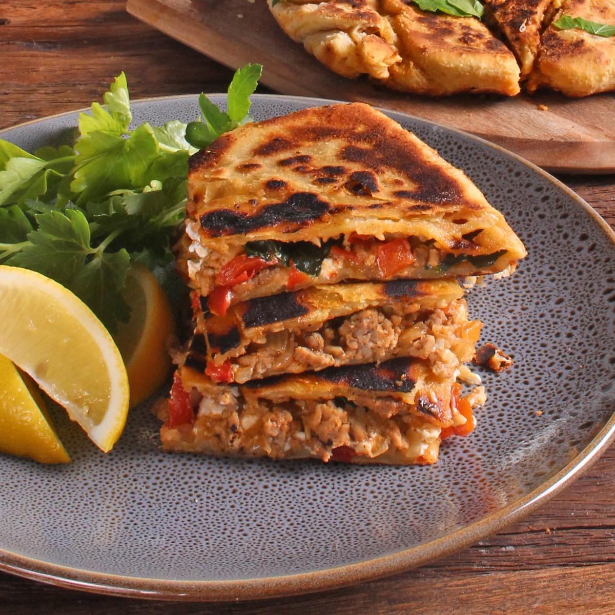 Turkish Gozleme with Ground Pork - SunPork Pork Mince
