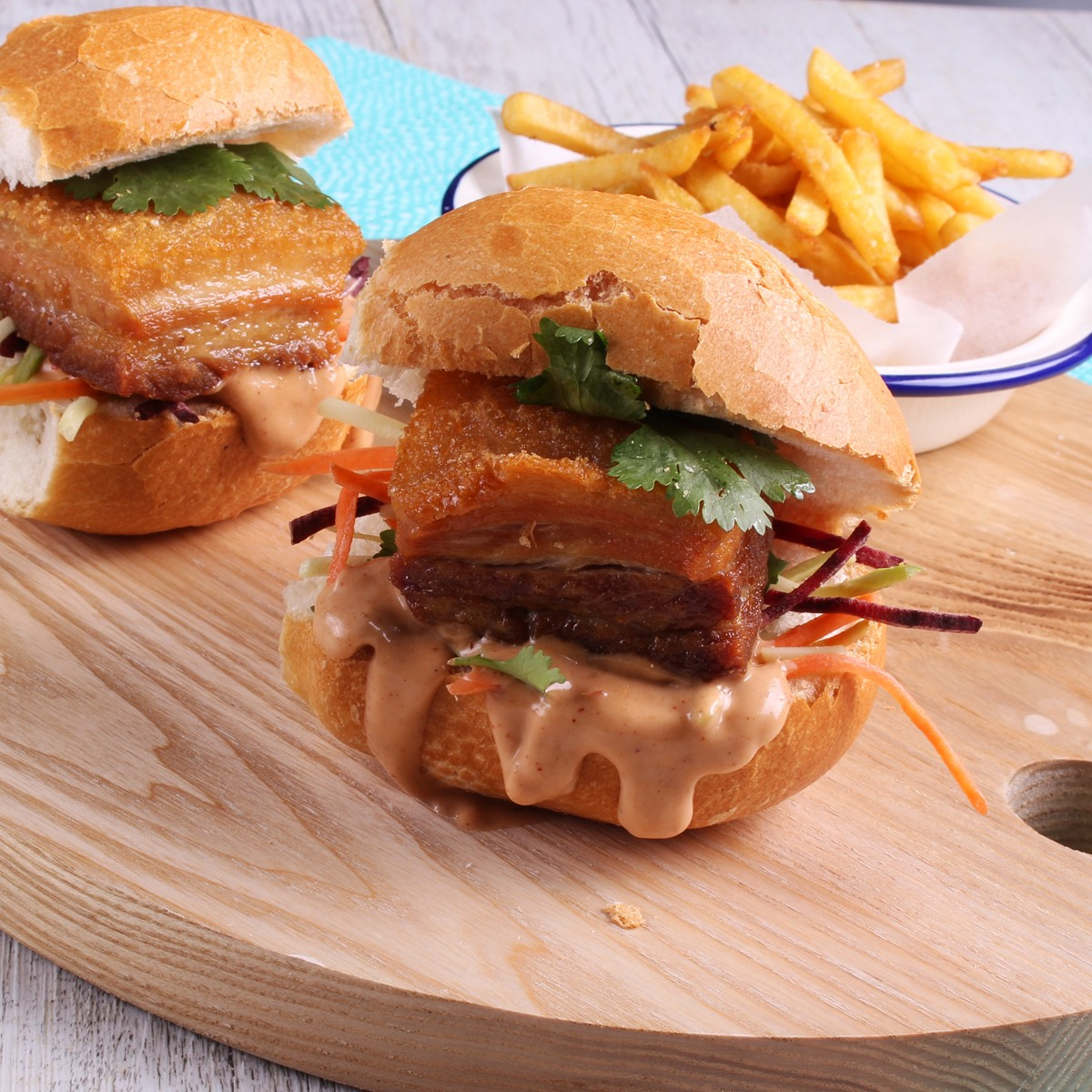 Asian Pork Belly Sliders - Three Aussie Farmers Slow Cooked Pork Belly