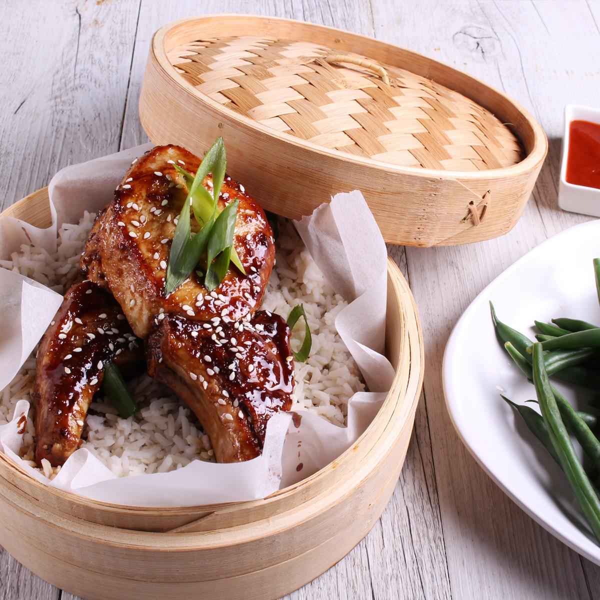 Sticky Mongolian Pork Chops