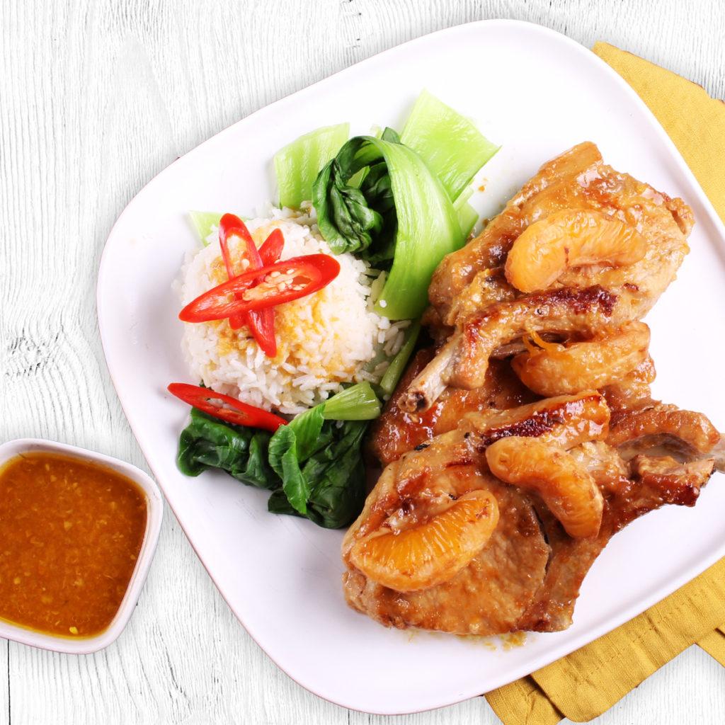 Slow Cooked Chinese & Mandarin Pork Chops