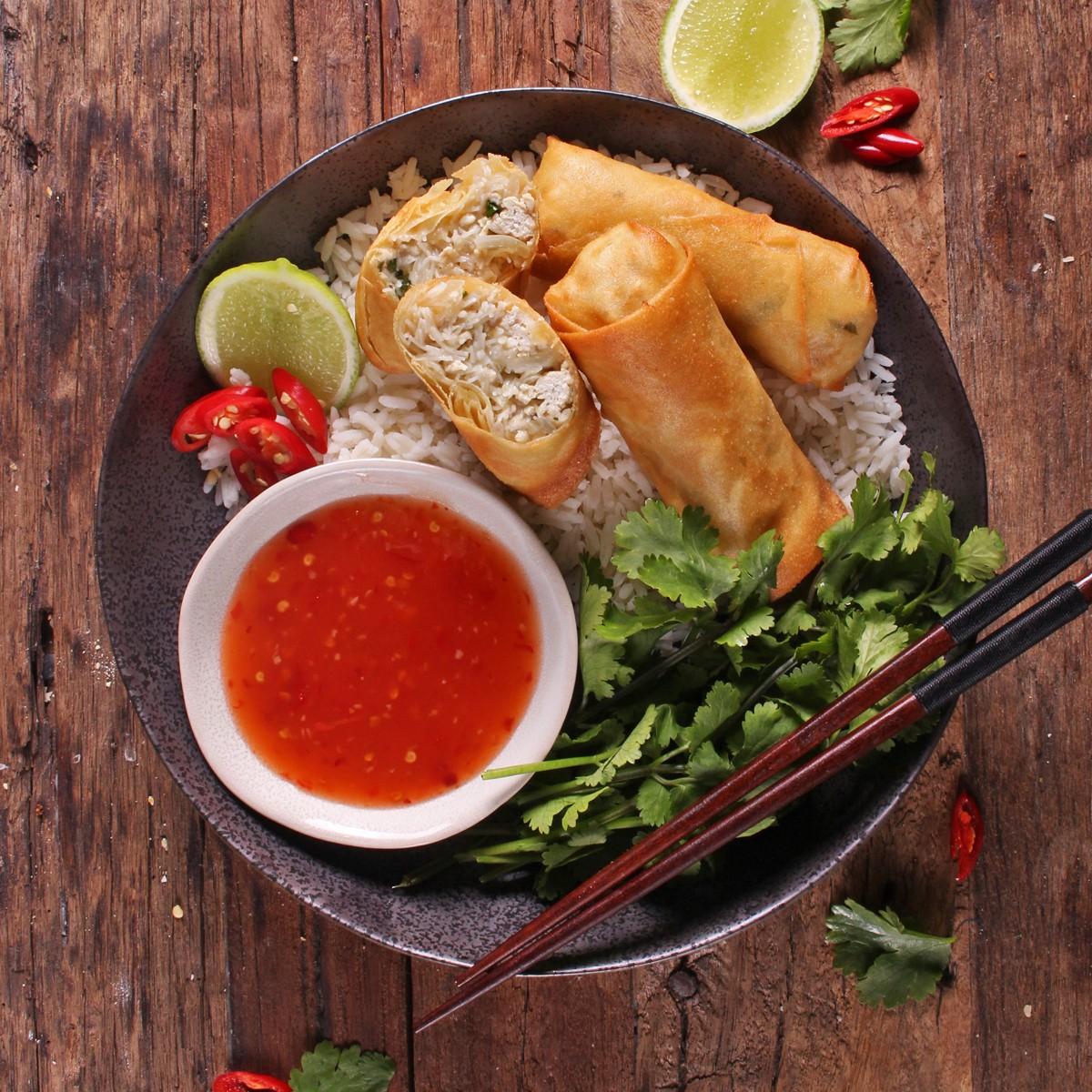 Thai Green Curry Pork Spring Rolls - pork mince