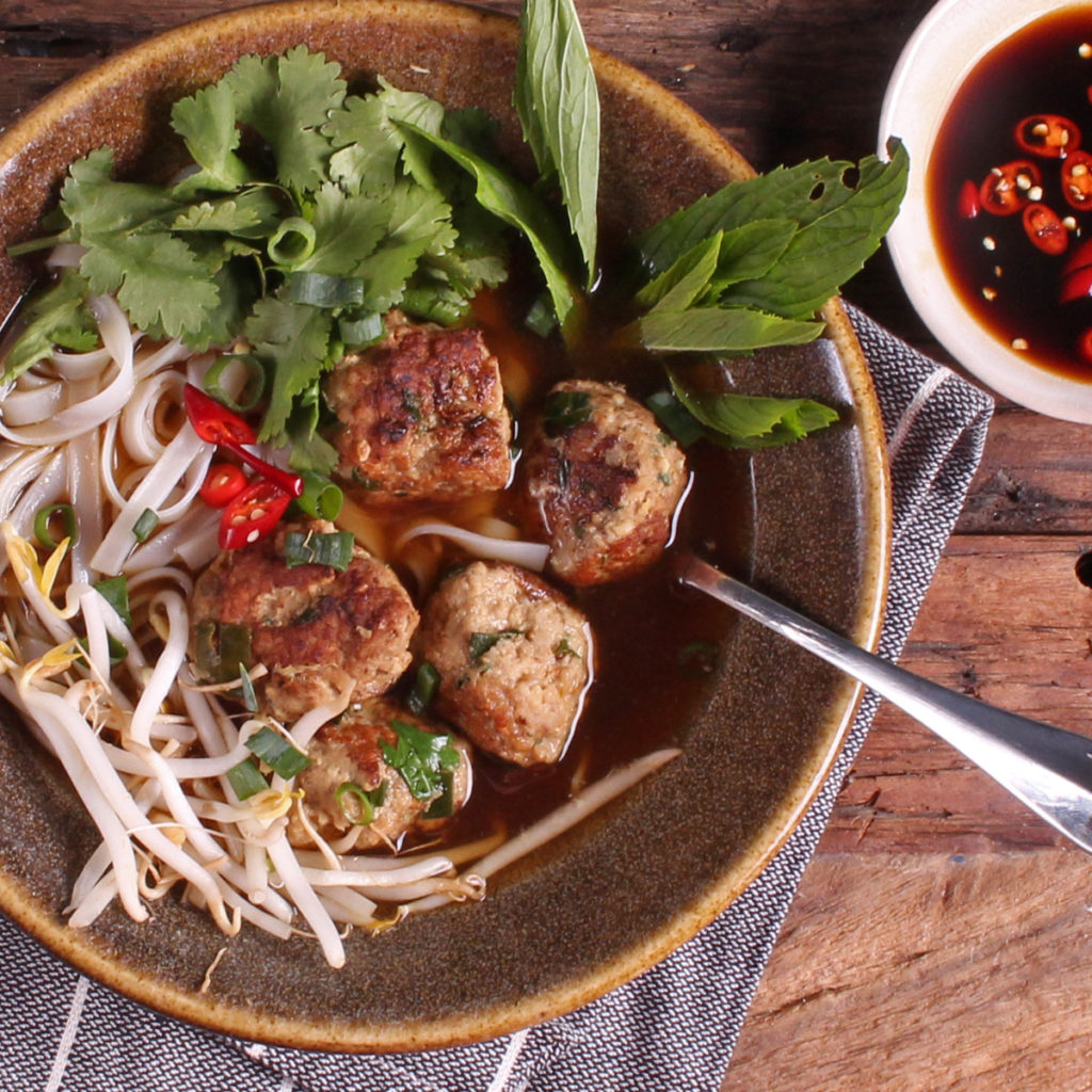 Vietnamese Meatball Pho
