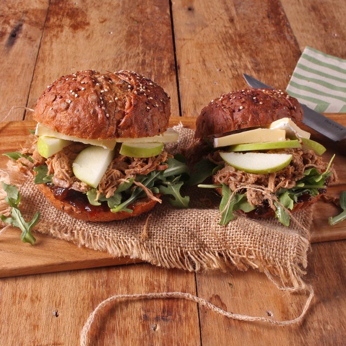 Pulled Pork, Apple and Brie Sliders - Three Aussie Farmers Py