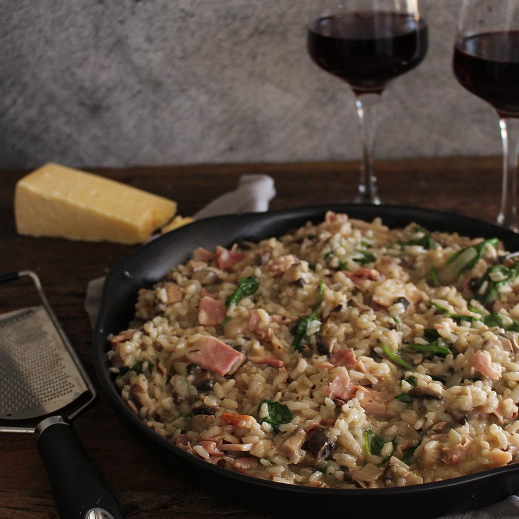 Ham and Mushroom Risotto recipe