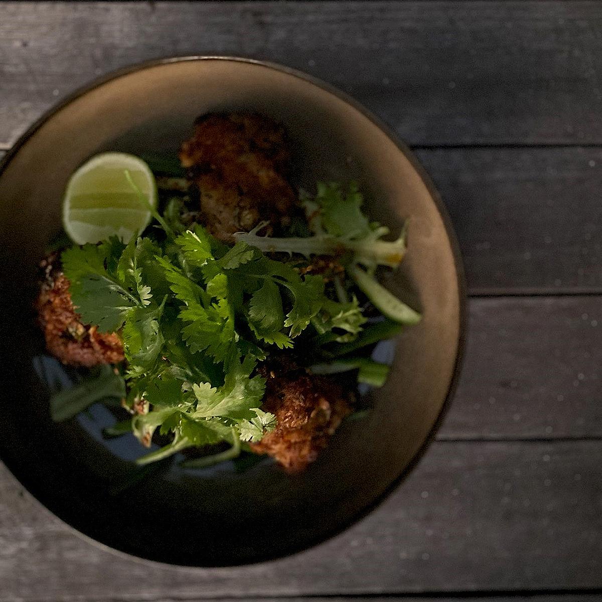 Dan & Steph's Asian Pork Meatball Salad - pork mince
