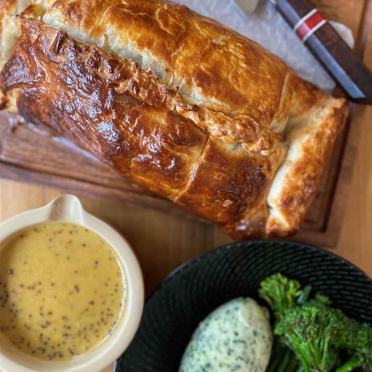 Pork Wellington with Honey Mustard Cream Sauce - Pork Tenderloin