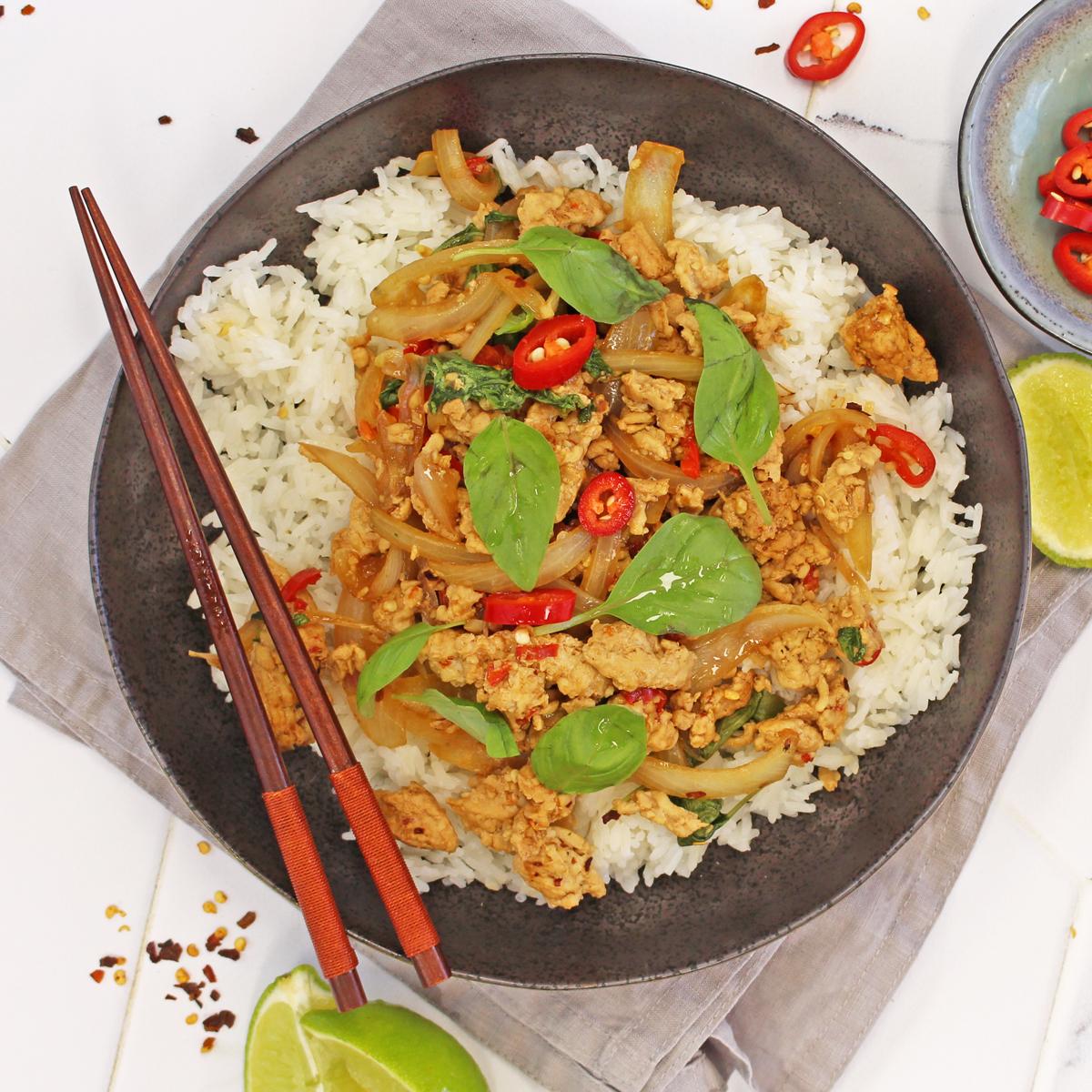 Thai Pork, Chili, Basil Stir-Fry - Pork Mince