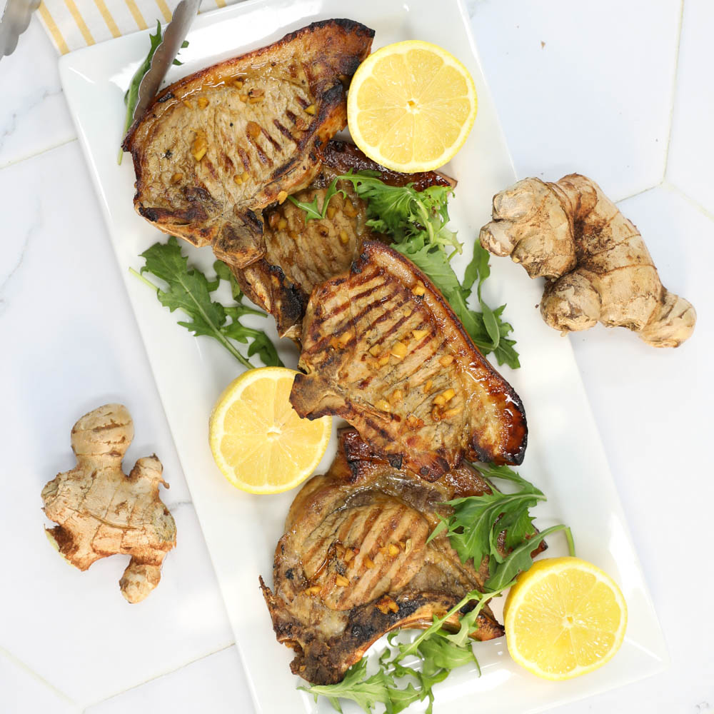 Lemon and Ginger pork chops - Pork Chops