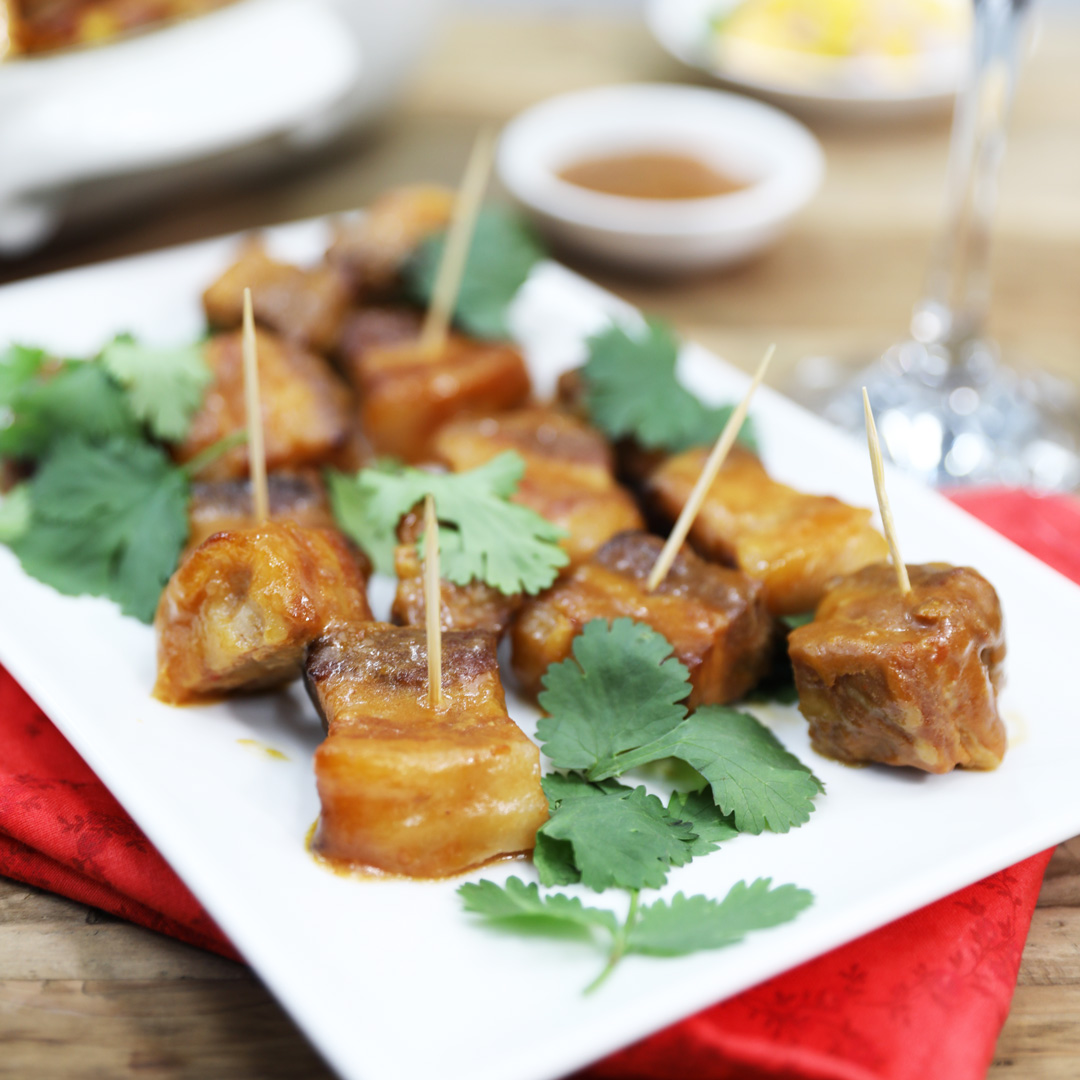 ticky-Ginger-and-Chilli-Belly-Bites - Pork Belly rindless