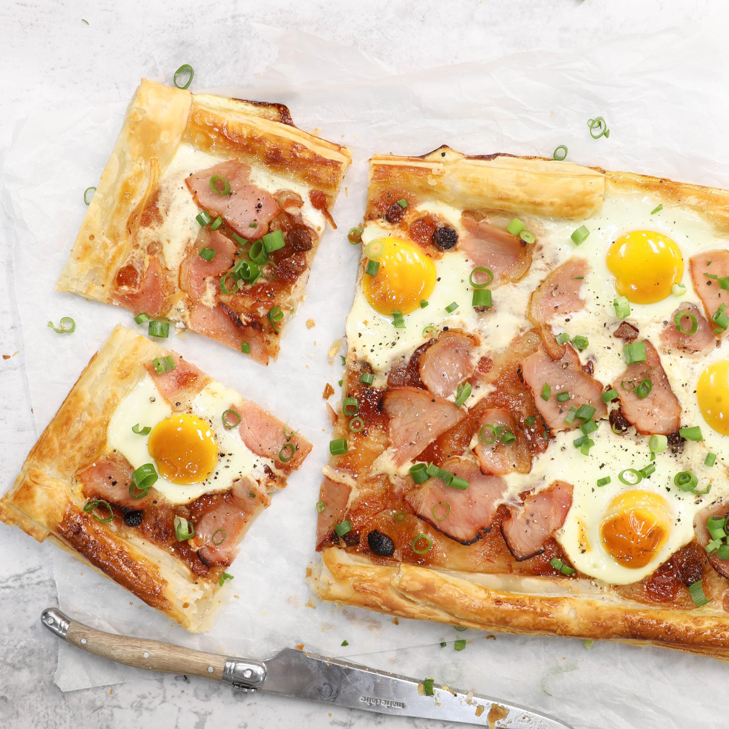 bacon and egg tart