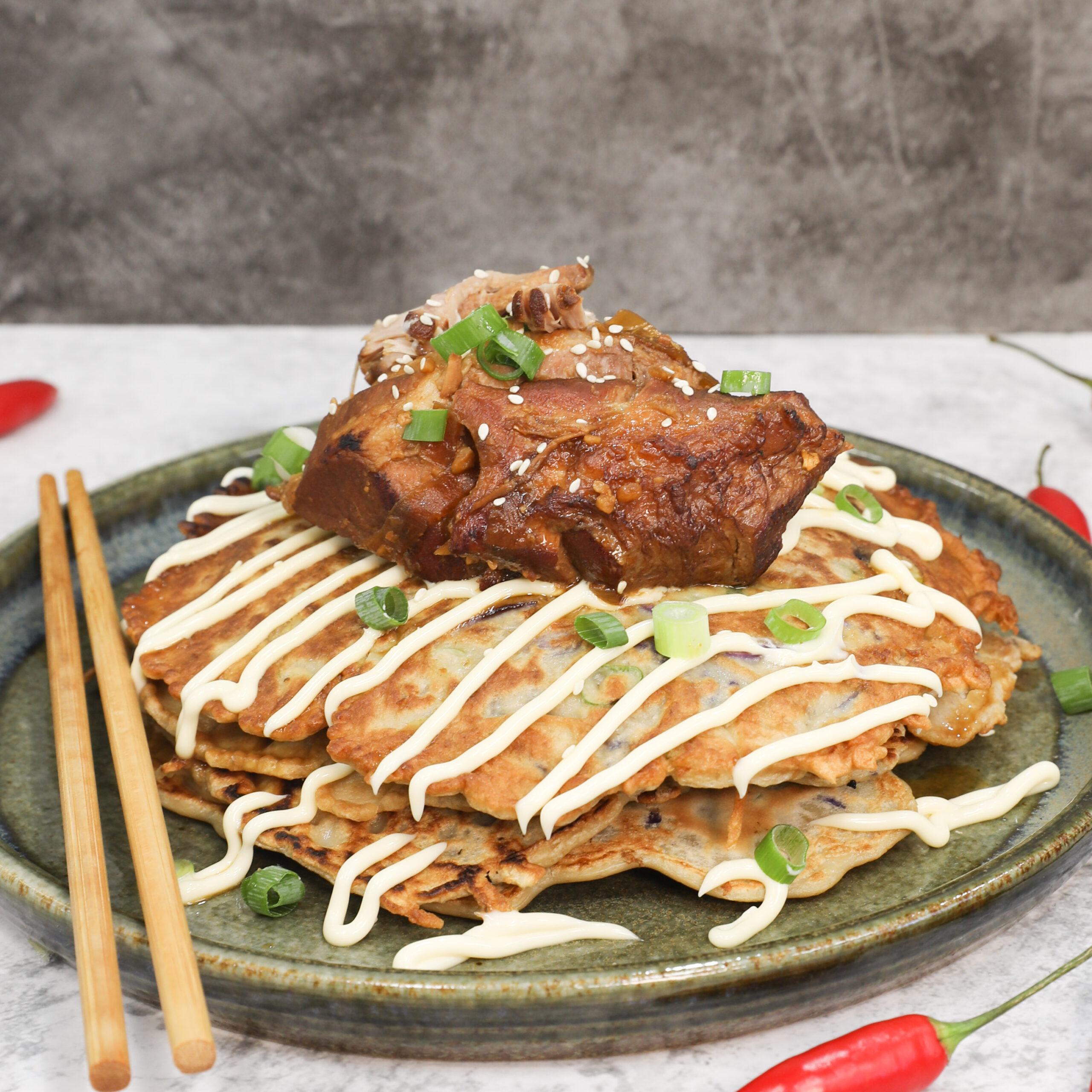 Pork Cheeks Miso Braised Omnonyaki - Pork Cheeks